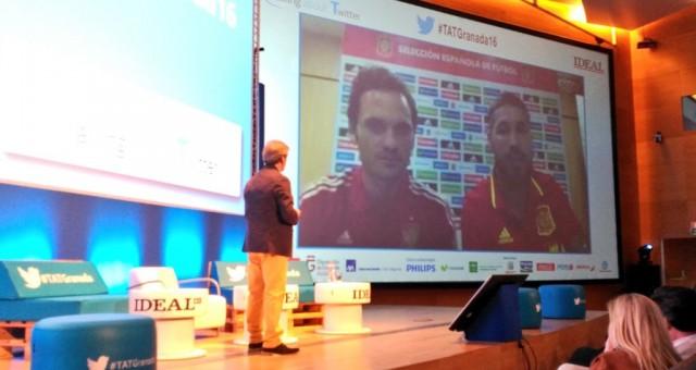 Ramos y Rocha en el Talking About Twitter de Granada