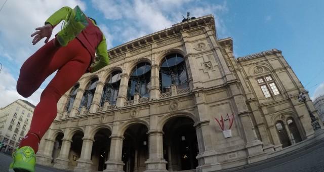 Correr por Viena con música clásica, sacher y palacios de cuento